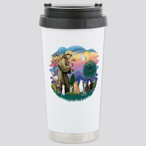 St Francis (ff)-7 Cats Stainless Steel Travel Mug