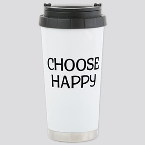 Choose Happy 16 oz Stainless Steel Travel Mug