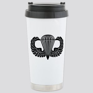 Parachutist -- B-W Stainless Steel Travel Mug