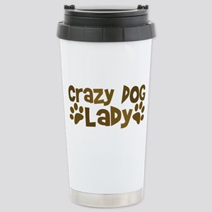 Crazy Dog Lady Stainless Steel Travel Mug