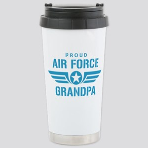 Proud Air Force Grandpa W Stainless Steel Travel M
