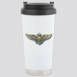 'Naval Aviator Wings' Stainless Steel Travel Mug. '