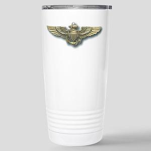 'Naval Aviator Wings' Stainless Steel Travel Mug. '