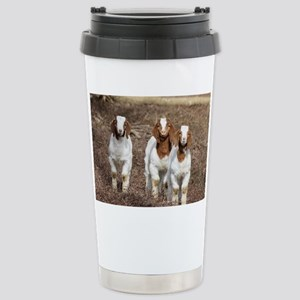 Smiling goats Stainless Steel Travel Mug
