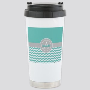 Teal Gray Chevron Mugs