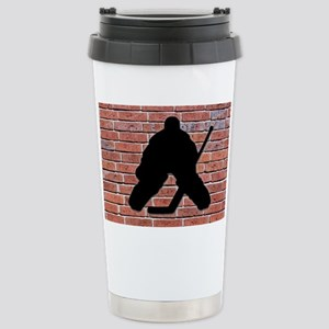 Hockey Goalie Brick Wall Stainless Steel Travel Mu