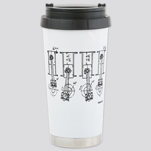 4 Pistons - On a Stainless Steel Travel Mug