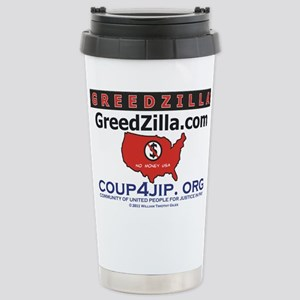 Greedzilla Map Stainless Steel Travel Mug