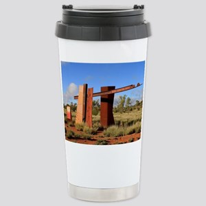 Red Centre Way sign, Ou Stainless Steel Travel Mug