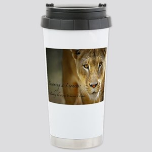 Becoming a Lioness Stainless Steel Travel Mug