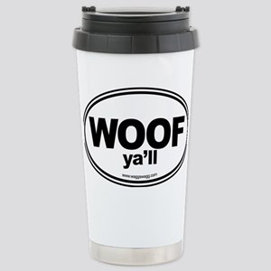 WOOF Yall Black Stainless Steel Travel Mug