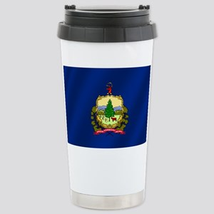 Vermont State Flag Stainless Steel Travel Mug