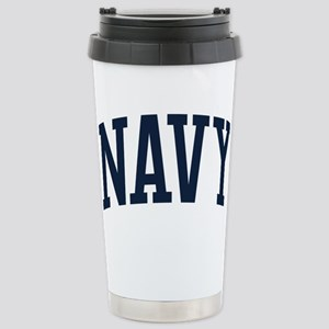 Navy 16 oz Stainless Steel Travel Mug