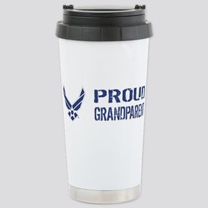 USAF: Proud Grandparent Stainless Steel Travel Mug
