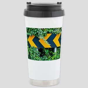 Attention road sign  Stainless Steel Travel Mug