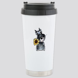 Sunflower Schnauzer Stainless Steel Travel Mug