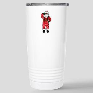 glitter black santa cla Stainless Steel Travel Mug