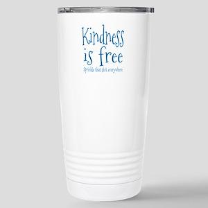 Sprinkle Kindness Blue Stainless Steel Travel Mug