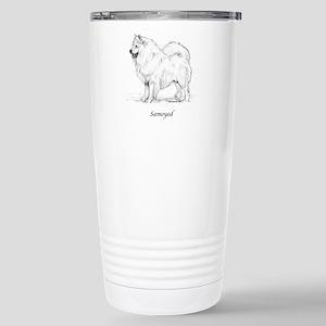 Samoyed Stainless Steel Travel Mug