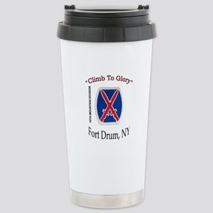"""10th Mountain Div """"Climb To G Stainless Steel"""