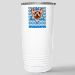 Hanukkah - Yorkie Stainless Steel Travel Mug