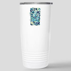 Colorful Hippie Art Stainless Steel Travel Mug