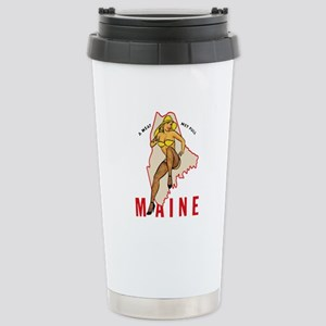 Maine Pinup Travel Mug