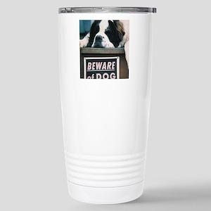 Beware of Dog Stainless Steel Travel Mug