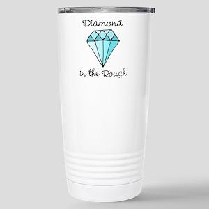 'Diamond in the Rough' Stainless Steel Travel Mug