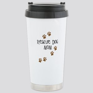 Rescue Dog Mom Stainless Steel Travel Mug