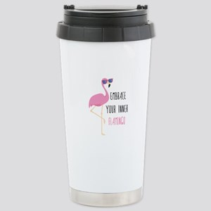 Embrace Your Inner Flamingo Ceramic Travel Mug