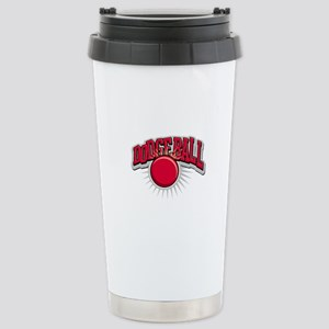 Dodge Ball Logo Stainless Steel Travel Mug