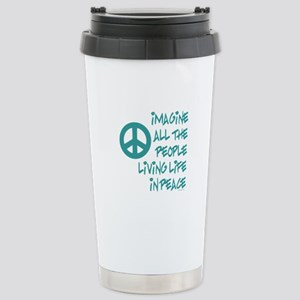 Imagine Peace Stainless Steel Travel Mug