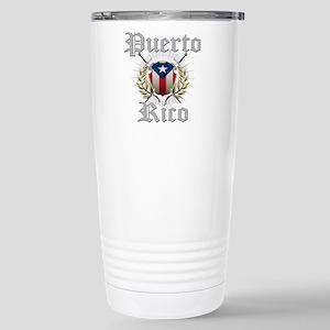 Puerto Rico Stainless Steel Travel Mug