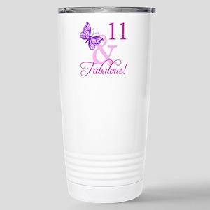 Fabulous 11th Birthday Stainless Steel Travel Mug