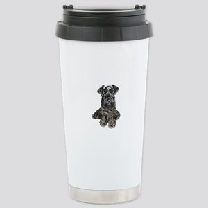 Schnauzer (gp-blk) Stainless Steel Travel Mug