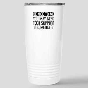 Be Nice To Me Stainless Steel Travel Mug