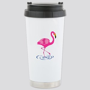 Pink Flamingo On One Stainless Steel Travel Mug