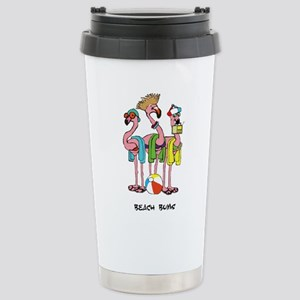 Flamingo Beach Bums Travel Mug