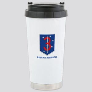 3d Marine Special Operations Bn with Text Stainles