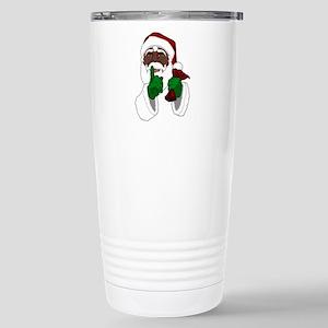 African Santa Clause Stainless Steel Travel Mug