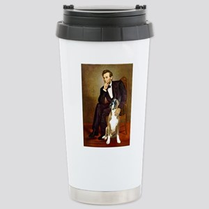 Lincoln & his Boxer Stainless Steel Travel Mug