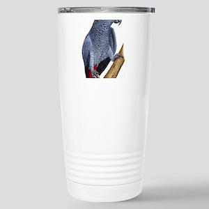 African Gray Parrot Stainless Steel Travel Mug