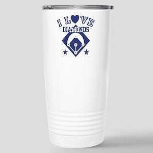 I Love Diamonds Stainless Steel Travel Mug