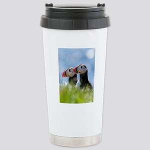 Puffin Pair 7.355x9.45 Stainless Steel Travel Mug