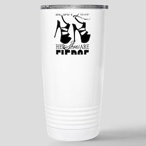Though She Be But Little/Fierce Shoes Travel Mug