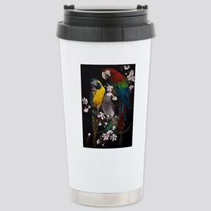 Parrots in Magnolia Stainless Steel Travel Mug