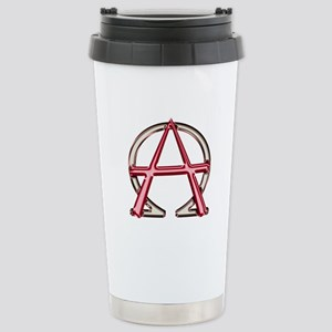 Alpha & Omega Anarchy Symbol Stainless Steel Trave