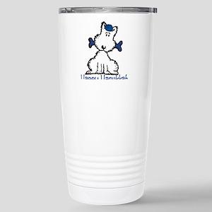 Dog Hanukkah Stainless Steel Travel Mug