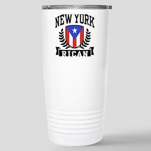 New York Rican Stainless Steel Travel Mug